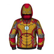 Iron Man 3 Hooded Costume Fleece Zip-Up Hoodie