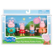 Peppa Pig Muddy Puddles Family 4-pack Figures