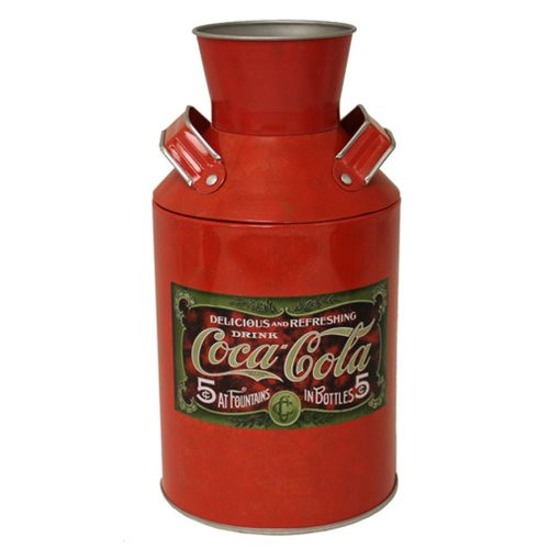 Coca-Cola Milk Can Shaped Tin
