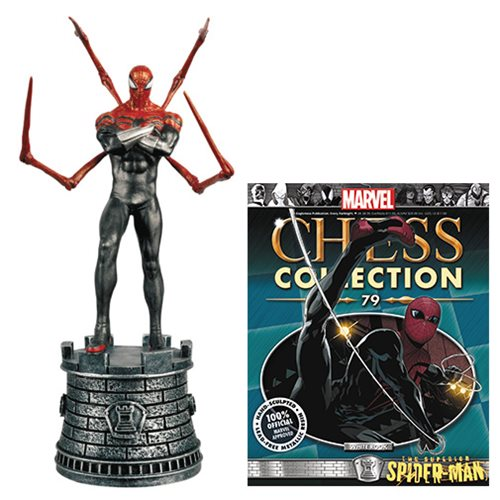 Marvel Superior Spider-Man White Rook Chess Piece with Collector Magazine #79