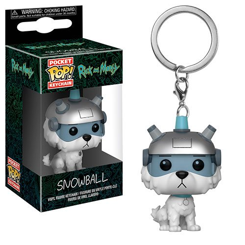 Rick and Morty Snowball Pocket Pop! Key Chain