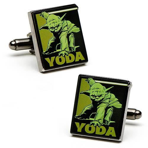 Star Wars Fighting Yoda Cufflinks