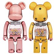 Super Alloyed My First Bearbrick Pink and Gold 2-Pack
