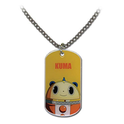 Persona 4 Kuma Dog Tag Necklace