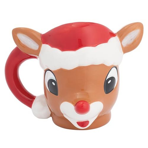 Rudolph the Red-Nosed Reindeer 14 oz. Sculpted Ceramic Mug