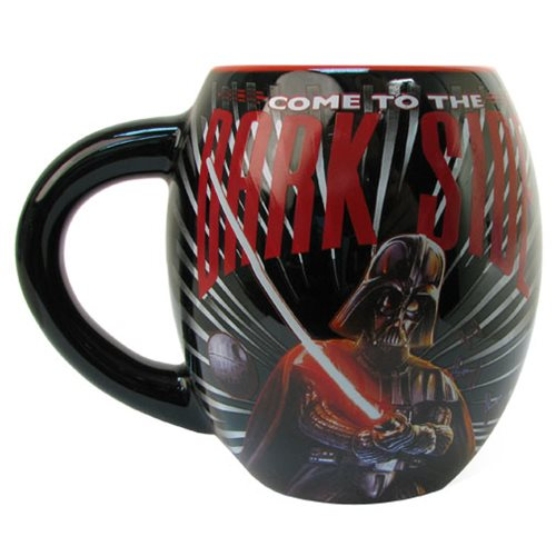 Star Wars Dark Side Black 18 oz. Ceramic Oval Mug