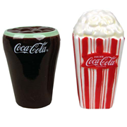Coca-Cola and Popcorn Salt and Pepper Shaker Set