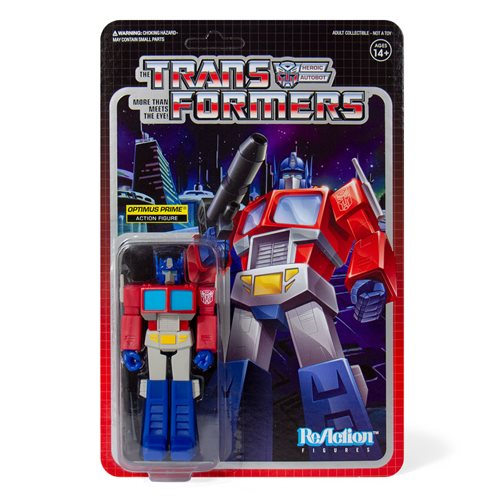 Transformers Optimus Prime 3 3/4-Inch ReAction Figure