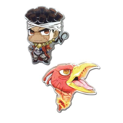 JoJo's Bizarre Adventure: Stardust Crusaders Avdol and Magician's Red Pin Set