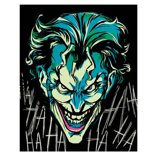 Batman Joker Crazy Face Close Up Canvas Print