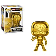Marvel Studio's 10th Anniversary Chrome Iron Spider Pop! Vinyl Figure #440, Not Mint