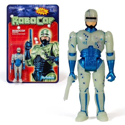 RoboCop Glow in the Dark Battle Damaged RoboCop 3 3/4-Inch ReAction Figure - NYCC Exclusive