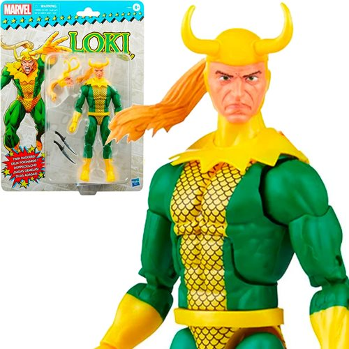 Marvel Legends Retro Loki 6-Inch Action Figure