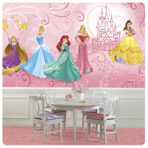 Disney Princesses Enchanted XL Chair Rail Prepasted Mural