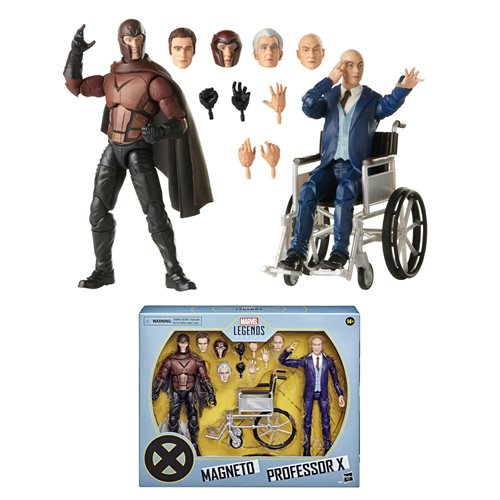 X-Men Movie Marvel Legends Professor X and Magneto Figures