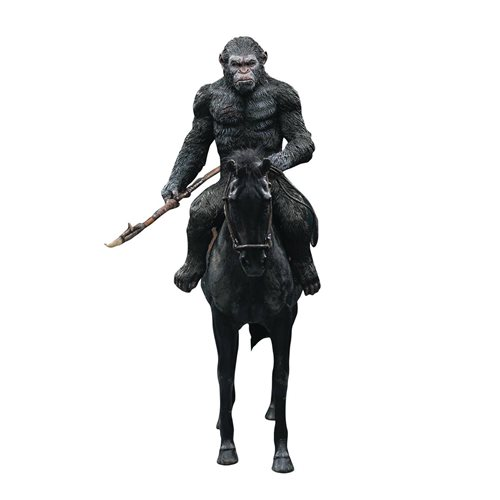 War for the Planet of the Apes Caesar with Spear Soft Vinyl Statue