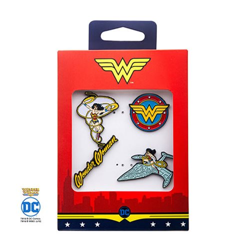 Wonder Woman 4-Pack Enamel Pin Set