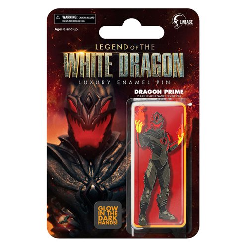 Legend of the White Dragon Dragon Prime Retro Figure GITD Pin