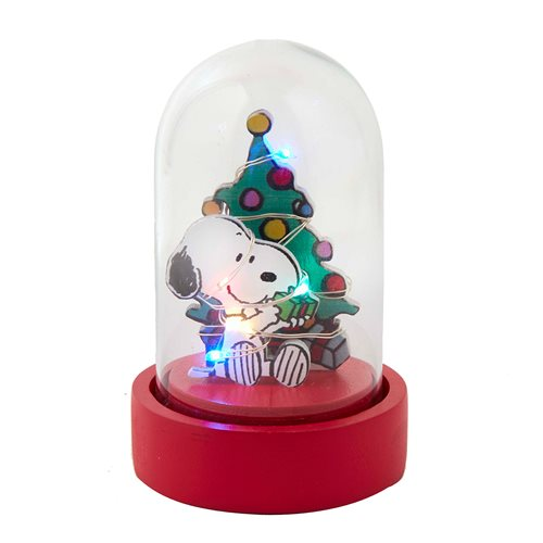 Peanuts Snoopy Light-Up Miniature Glass Dome