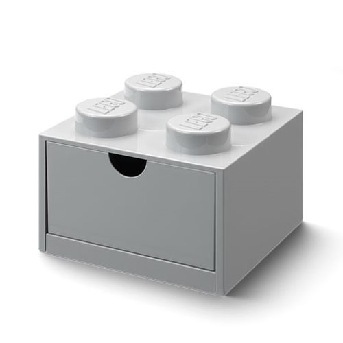 LEGO Gray Desk Drawer 4 Storage Box