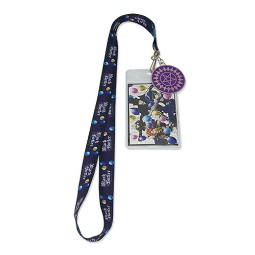 Black Butler Balloon Group Lanyard Key Chain