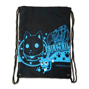Fairy Tail Happy Blue Drawstring Bag