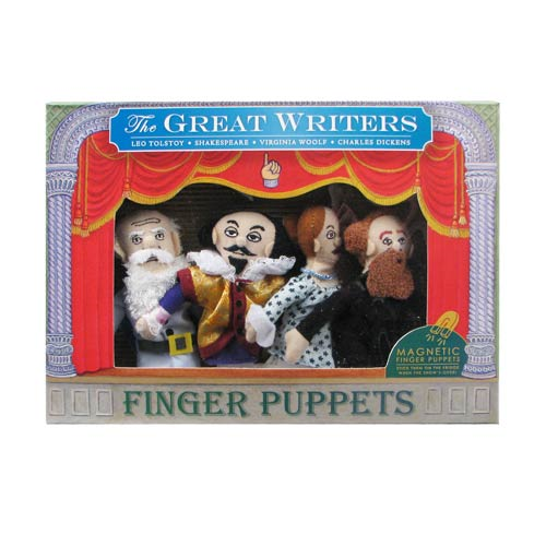 Famous Writers Plush Finger Puppet Magnet Set