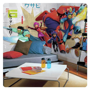 Big Hero 6 Marvel Giant Ultra-Strippable Prepasted Mural