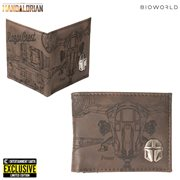 Star Wars: The Mandalorian Etched Print PU Bi-Fold Wallet - Entertainment Earth Exclusive