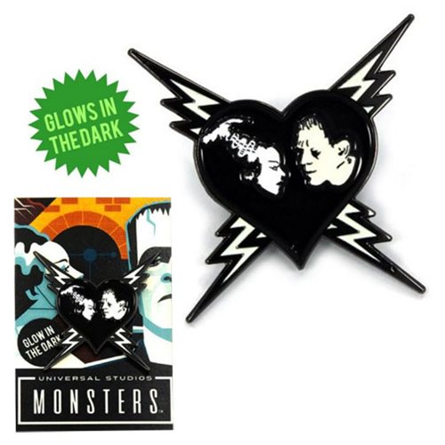 Universal Monsters Lonely Heart Glow-in-the-Dark Enamel Pin