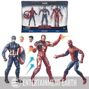 Captain America Civil War Marvel Legends Spider-Man, Captain America, and Iron Man Action Figure 3-Pack, Not Mint