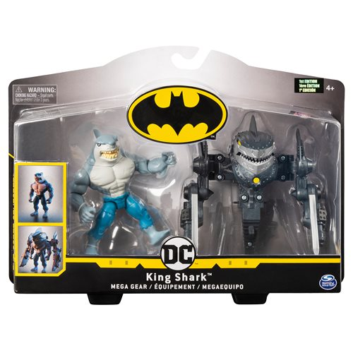 Batman King Shark 4-Inch Mega Gear Deluxe Action Figure