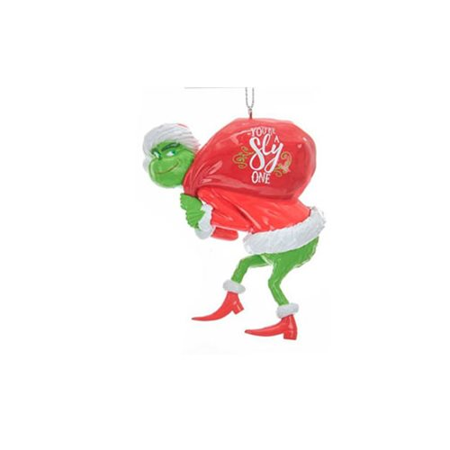 The Grinch Red Sack Blow Mold Ornament