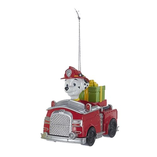 Paw Patrol Marshall in Fire Truck Ornament, Not Mint