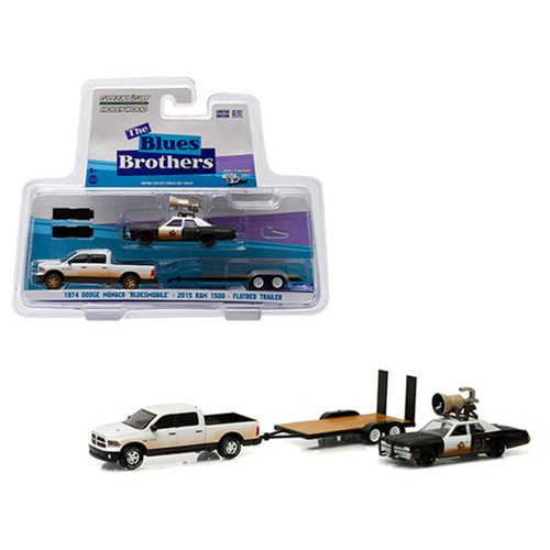 Blues Brothers 1:64 Scale Movie Vehicle Trailer Set