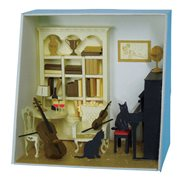 Music Room Paper Nano Model Kit