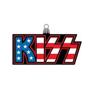 KISS Logo 5-Inch Glass Ornament