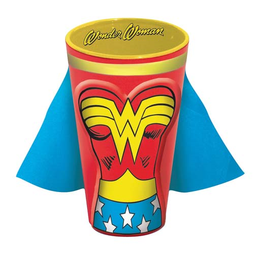 Wonder Woman Molded Caped 16 oz. Pint Glass