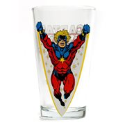Captain Marvel Toon Tumbler Pint Glass