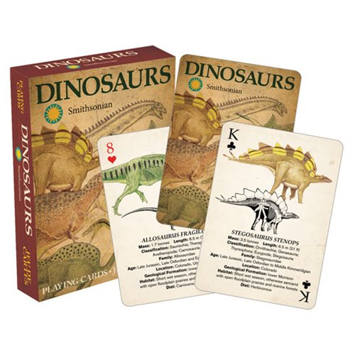 Smithsonian Dinosaur Playing Cards
