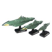 Starblazers Yamato 2202 Great Imperial Garmillas Astro Fleet Garmilas Warships 1:1000 Scale Star Blazers Model Kit