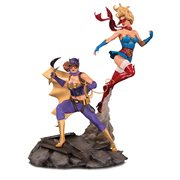 DC Bombshells Batgirl and Supergirl Celebration Statue
