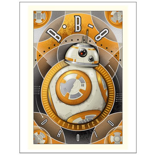 Star Wars Ep. 7 BB-8 Astromech Droid Paper Giclee
