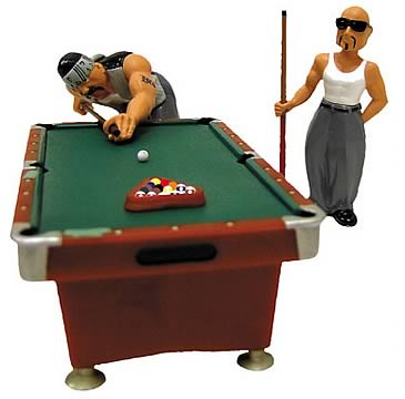 Homies 1:24 Pool Hall Set 1 - Entertainment Earth