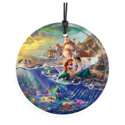 Little Mermaid by Thomas Kinkade StarFire Prints Hanging Glass Print