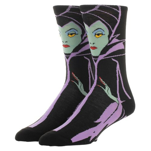 Disney Villains Maleficent Character Crew Sock
