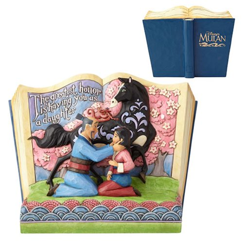 Disney Traditions Mulan 20th Anniversary Storybook Statue