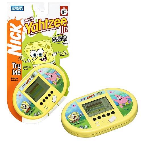 Yahtzee Jr  SpongeBob Squarepants Handheld Game