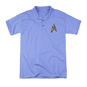 Star Trek Embroidered Science Patch Polo T-Shirt