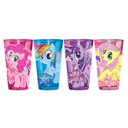 My Little Pony: Friendship Is Magic Glitter Pony Pose 16 oz. Pint Glass 4-Pack